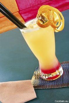 Bahama Mama ~ coffee liqueur, dark rum, coconut liqueur, 151 proof rum, lemons and pineapple juice.