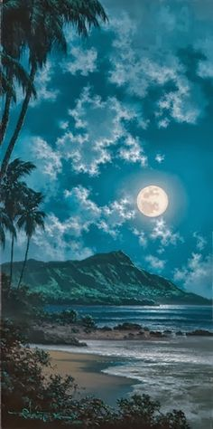 Full moon - Beautiful Waikiki, Hawaii!