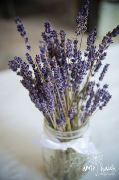 and dried lavender centre pieces!