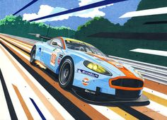 Aston Martin by ~klem on deviantART Ferdinand Porsche, Aston Martin Sports Car, Up Auto, Le Mans, Speed Art, Mobile Art, Car Illustration, Car Posters, Car Drawings