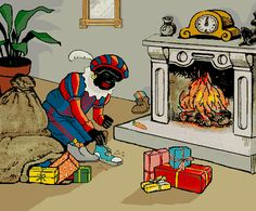Sinterklaas Holland - the Zwarte Piet are the ones that come own the chimney. They take the carrots hat children leve in their shoes for  St. Nicholas' horse and leave gifts and candy.