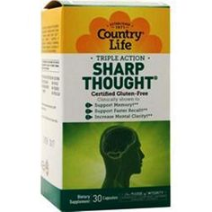 Country Life SharpThought - increase  DHA to the brain - 30 V-Caps #CountryLife