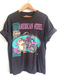 6e948bf3 VTG Harley Davidson Taz Tasmanian Devil Graphic Tee T Shirt 90s 1993 Large