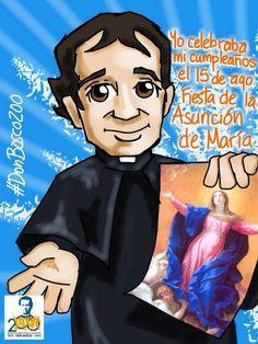 Don_Bosco_2 St John Bosco, Mother Mary, Catholic, Saints, Disney Characters, Image, Design, Molde, Activities