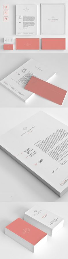 Modern Business Branding Bundle Geometric Stationery Identity #brand #identity #branding #corporatedesign #stationerytemplates #visualidentity #stationerypack