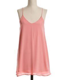 Loving this Pink Drape Sleeveless Dress on #zulily! #zulilyfinds