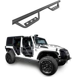 u-Box 4-Door Jeep Side Step Running Board w//Star Cut for Jeep JK Wrangler Unlimited 2007-2018