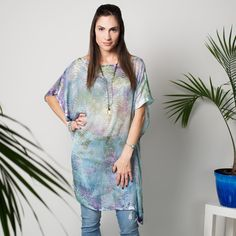 The bubble caftan is a silk burnout hand-dyed in a dreamy pastel palette, but can be created in your favorite colors. . #AlysonRenee  #MadeInNYC #bohemian #spring2017 #ss17 #resortwear #beachstyle #handdyed #tiedye #handmade  #boho #bohofashion #bohostyle