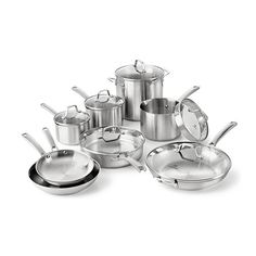 Found it at Wayfair - Stainless Steel 14 Piece Cookware Set