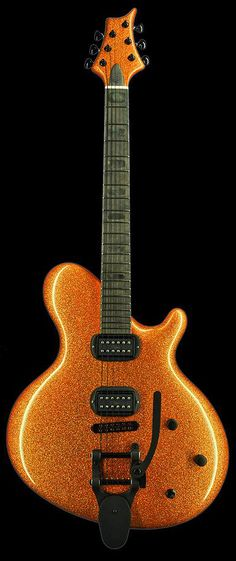 Jens Ritter | Orange Sparkle Finish with Black Hardware