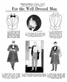Vanity Fair 1921 - Francesca Miranda's Fashion History Class - For the well dressed man