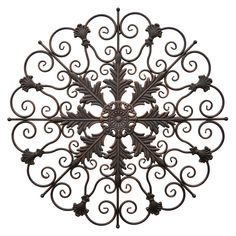 Fleur de Lis, scrolls, and oak leaves in a rubbed bronze finish give the Three Hands Metal Wall Decoration its antique appeal. Metal Sun Wall Art, Metal Wall Decor, Metal Walls, Metal Art, Window Wall Decor, Kids Wall Decor, Wall Art Decor, Outdoor Wall Art, Medallion Wall Decor