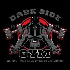 DARK SIDE GYM T-Shirt - Darth Vader T-Shirt is $13 today at Ript!