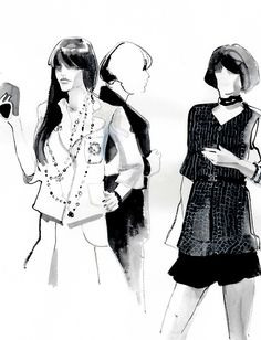 reginayazdi:    live sketches from the chanel boutique on robertson blvd