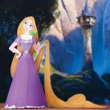Rapunzel-Papierpuppe