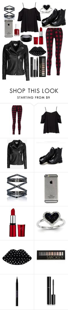 """""""BadGirl.❤"""" by juliaambuul ❤ liked on Polyvore featuring rag & bone, IRO, Sunsteps, Eva Fehren, Essie, Kevin Jewelers, Lulu Guinness, Forever 21, Urban Decay and Chanel"""