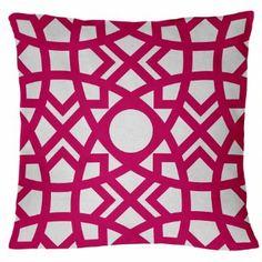 "Amazon.com - Jasmina-Hollywood 18"" x 18"" Pink, Fuschia Geometric ..."