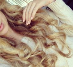 Dirty blonde soft curls