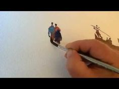 A short video showing figures painted in watercolour. A practice sheet of single,pairs and groups of people using only a brush. A necessary practice for all ...
