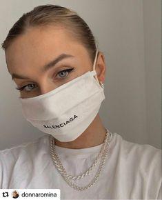 Balenciaga, Nose Mask, Face Masks, Mouth Mask, Cute Faces, Fashion Face Mask, Mask Design, Mask For Kids, Vintage