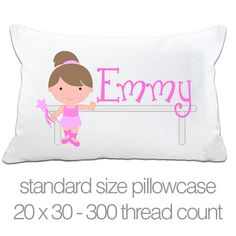 Personalized ballerina  STANDARD pillow and case   by zoeysattic, $18.00