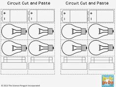 Free Circuit Cut and Paste Activity for Science Notebooks