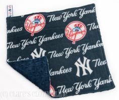 Baby Lovey Blanket  New York Yankees Baseball by ClaresClothesline, $13.00