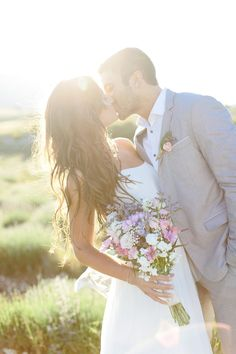 Provence Engagement in a Lavender Field