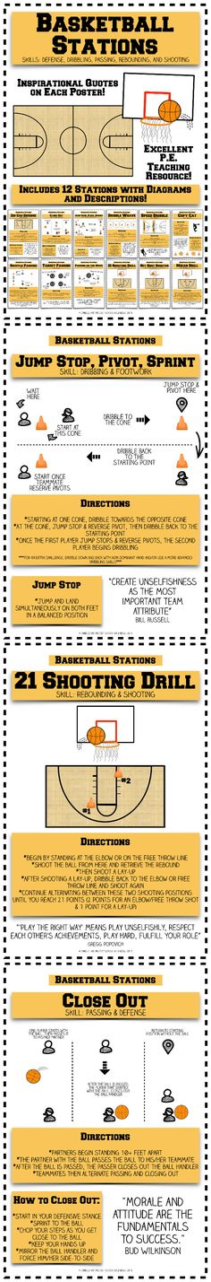 Basketball Stations - PE Stations - PE Resources Get the best tips on how to increase your vertical jump here: (Diet Workout How To Get) Basketball Tricks, Basketball Practice, Basketball Plays, Basketball Workouts, Basketball Skills, Basketball Gifts, Basketball Shoes, Basketball Legends, Basketball Emoji