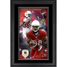 Andre Ellington Arizona Cardinals Fanatics Authentic Vertical Framed Photograph with Piece of Game-Used Football - Limited Edition of 250