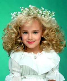 12/26/96 - JONBENET RAMSEY (born 08/06/90) was a child beauty pageant winner who was found murdered in her home.  She'd been struck on the head and strangled.  Her murder was never solved.