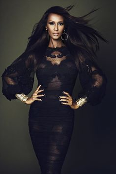 Photographer: Max Abadian for El País S Moda -- Model: Iman Abdulmajid (wearing… Top Models, Black Models, Female Models, Women Models, Beautiful Black Women, Beautiful People, Somali, Ageless Beauty, Kate Moss