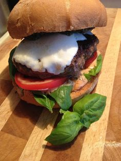 In-House Cook:   Caprese Burger It is certainly no secret how muc...