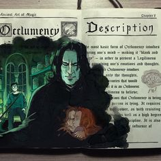 'Occlumency spell' with Severus Snape Harry Potter illustration by Gabriel Picolo Fanart Harry Potter, Arte Do Harry Potter, Harry James Potter, Harry Potter Books, Harry Potter Universal, Harry Potter World, Harry Potter Journal, Illustrations Harry Potter, Harry Potter Drawings