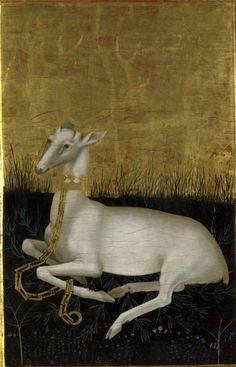 last decade of the 14th century (ca. 1395-1399) England or France The Wilton Diptych reverse - the White Hart London, National Gallery  http://catholicismpure.files.wordpress.com/2011/04/wiltondiptychback.jpg http://www.nationalgallery.org.uk/paintings/english-or-french-the-wilton-diptych/*/viewReverse/1