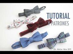 DIY Tutorial y patrones de pajaritas para niños o bebés: como hacer paso a paso esta pajarita. Los patrones los tenéis disponibles y gratis en el blog. En es...