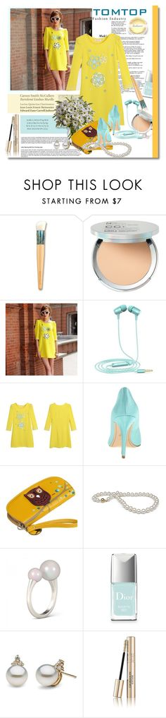 """""""Spring look (Win 30$ voucher from TOMTOP)"""" by astromeria ❤ liked on Polyvore featuring It Cosmetics, Tiffany & Co., Samsung, Joan & David, Christian Dior, tomtop and tomtopstyle"""