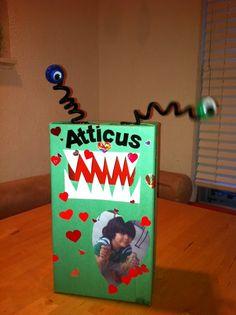 Kids Valentines Mailbox....the love monster. :)