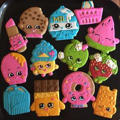 Shopkins Cookies  #shopkins #shopkinscookies #shopkinsbirthday  Please visit my page www.facebook.com/busybeecakery