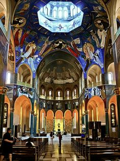 Basilica of St. Rita of Cascia located in Cascia, Italy. Wanna go. Figures make me want to ascend to the light.
