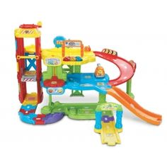 VTECH Toot Toot Driver Garage Park learn and play with the all new Toot-Toot Drivers Garage by VTech This interactive garage features three floors of pretend play and learning fun! Includes 4 electronic locations