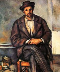 Seated Peasant, 1900  Paul Cezanne.  Art Experience NYC  www.artexperiencenyc.com/social_login/?utm_source=pinterest_medium=pins_content=pinterest_pins_campaign=pinterest_initial