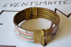Metal Bangle Vintage Colorful Bracelet Jewelry by eventsmatters