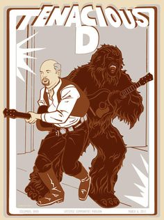 2013 Tenacious D screenprinted gig poster Columbus Ohio by bmethe, $30.00