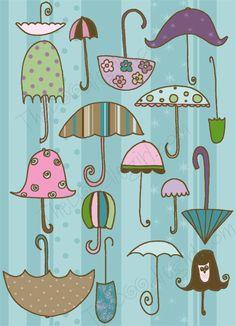 umbrella love by the doodlegirl