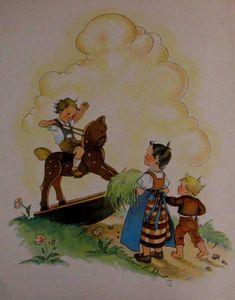 Ringel, ringel Rosen Kinderverse Bilderbuch 50er www.eichwaelder.de