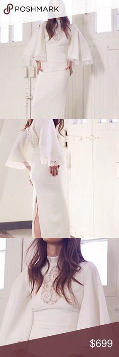 GWEN JONES x FREE PEOPLE MARIANA DRSS 0 NEW $975 Gorgeous wedding dress never worn line thru label PLASTIC PART OF TAG STILL ATTACHED Free People Dresses Maxi
