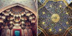 Os tetos das mesquitas iranianas vão te hipnotizar