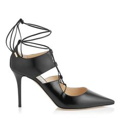 Black Shiny Leather Pointy Toe Lace Up Pumps | Hoops 85 | Autumn Winter 15 | JIMMY CHOO http://us.jimmychoo.com/on/demandware.store/Sites-jchus-Site/en_US/Product-Show?pid=HOOPS85SYL010003&utm_content=buffer38d4d&utm_medium=social&utm_source=pinterest.com&utm_campaign=buffer | beautyluxelife