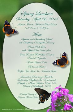 Ladies' Luncheon Menu and Tickets | Pink: breast cancer ...